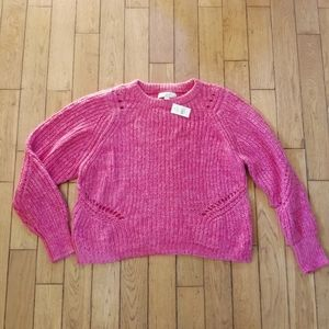 Loft   NWT Cropped Bulky Knit Pullover.